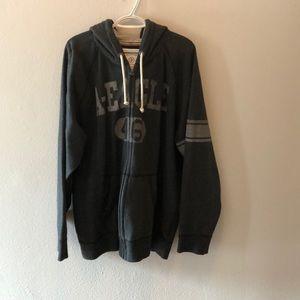 AEO zip up hooded sweatshirt